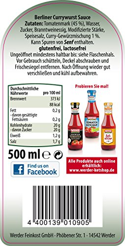 Berliner Currywurst Sauce 500 ml - 2