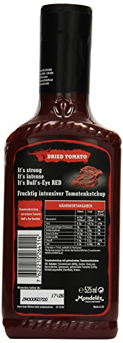 Bull's-Eye Dried Tomato Ketchup, Dosierflasche, 525 ml, 2er Pack (2 x 525 ml) - 4