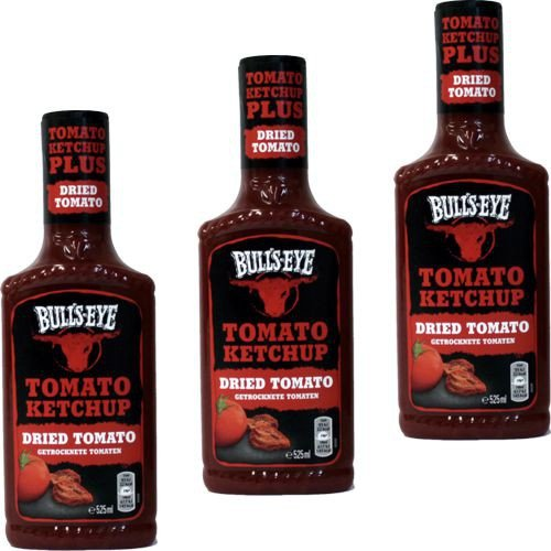 Bulls-EYE Tomato Ketchup ' Dried Tomato' 3 x 525ml - 1
