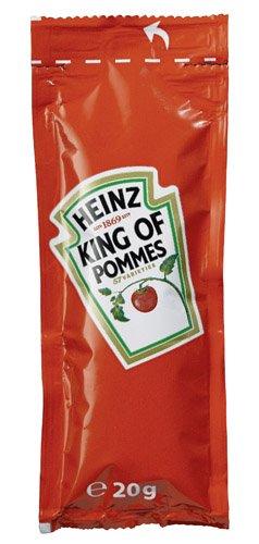 Heinz Tomaten Ketchup 100 Portionsbeutel á 20g (Würfel), 1er Pack (1 x 2 kg) - 2