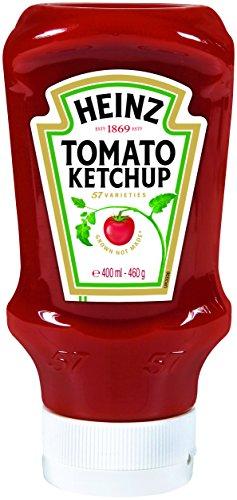 Heinz Tomato Ketchup, Kopfsteher-Squeezeflasche, 5er Pack (5 x 400 ml) - 1