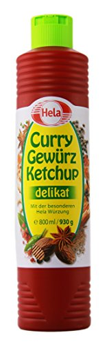 Hela Hela Curry Gewürz-Ketchup delikat - 1 x 800 ml - 1