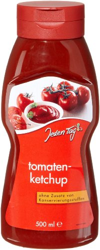 Jeden Tag Tomatenketchup PET, 4er Pack (4 x 500 ml) - 1