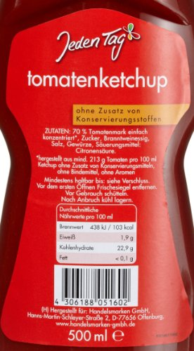 Jeden Tag Tomatenketchup PET, 4er Pack (4 x 500 ml) - 2