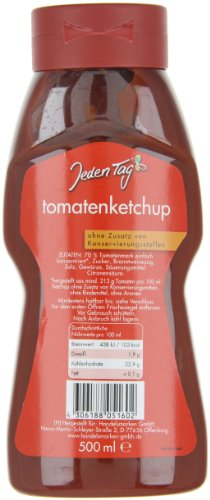 Jeden Tag Tomatenketchup PET, 4er Pack (4 x 500 ml) - 3