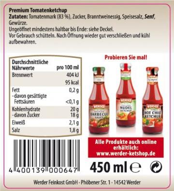 Werder Premium Tomatenketchup 450 ml - 2