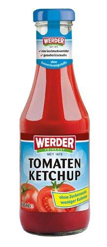 """Werder Tomatenketchup """"Ohne Zuckerzusatz"""" 450 ml - 1"""