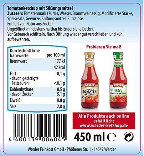 """Werder Tomatenketchup """"Ohne Zuckerzusatz"""" 450 ml - 2"""