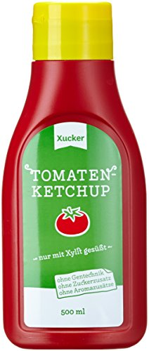 Xucker 500 ml Ketchup mit Xylit in PET-Flasche, 3er Pack (3 x 500 g) - 1