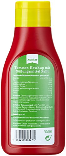 Xucker 500 ml Ketchup mit Xylit in PET-Flasche, 3er Pack (3 x 500 g) - 4
